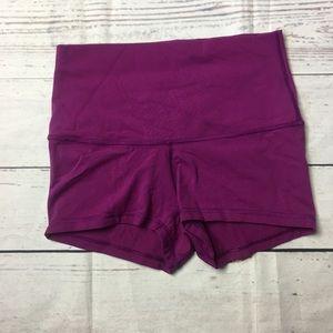 Lululemon Boogie Shorts High Waisted Plum Size 4*